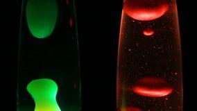 Лампы лавы с темной предпосылкой акции видеоматериалы