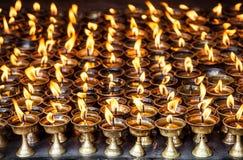 Лампы масла с пламенами стоковые изображения rf
