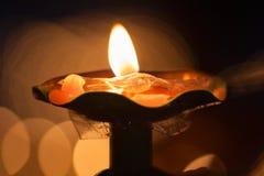 Лампы масла яков в Тибете Стоковые Фото