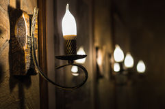 Лампы на стене Стоковые Фото