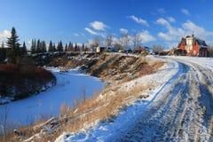 Ландшафты зимы Стоковые Изображения