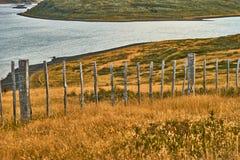 Ландшафты рядом с малым поселением на Огненной Земле около Ushuaia Патагония Аргентины в осени стоковые фотографии rf