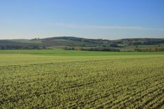 Ландшафты Франции: Jambville Стоковая Фотография RF