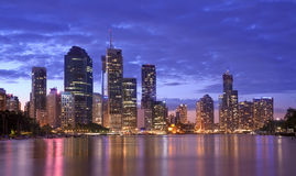 Ландшафт Австралии, Брисбена урбанский Стоковое Изображение RF