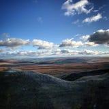 Ландшафт английской вересковой пустоши стоковое фото rf
