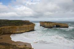 Ландшафт 12 апостолов в большой дороге океана Стоковые Фотографии RF