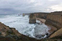 Ландшафт 12 апостолов в большой дороге океана Стоковое Изображение RF