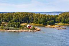 Ландшафт архипелага островов Aland стоковое фото rf