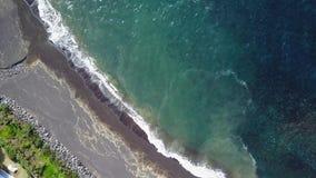 Ландшафт береговой линии Азорских островов Португалии острова Sao Мигеля St Michael сток-видео