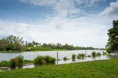 Ландшафт берег реки Таиланда Стоковое Изображение RF