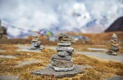 Ландшафт больших Гималаев стоковые фотографии rf