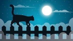 Ландшафт бумаги шаржа Illustaton кота бесплатная иллюстрация