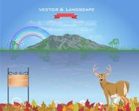 Ландшафт вектора конструкции сезона осени иллюстрация вектора