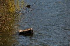 Ландшафт весны на реке Ingulets Стоковое Изображение