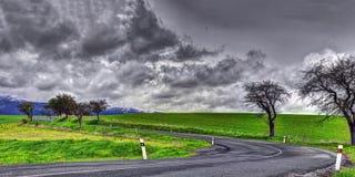Ландшафт весны Словакии стоковые изображения rf