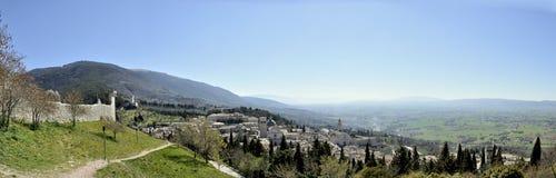 Ландшафт взгляда сверху Assisi стоковая фотография rf