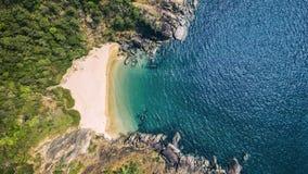 Ландшафт вида с воздуха пляжа Xandrem красоты, Стоковая Фотография RF