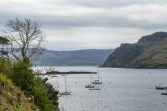 Ландшафт внутри острова skye, Шотландии стоковое фото