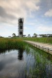 Ландшафт восстановления маяка острова Bodie стоковые фотографии rf