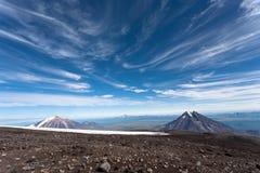 Ландшафт вулкана. стоковое изображение rf