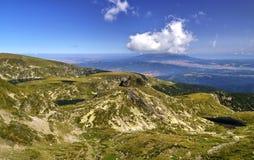Ландшафт в высокой горе Стоковая Фотография