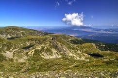 Ландшафт в высокой горе Стоковое фото RF