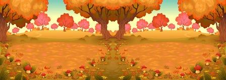 Ландшафт в древесине с грибами, c, Стоковое фото RF