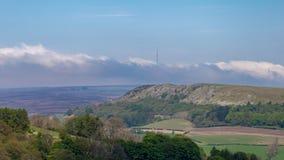 Ландшафт в северном Yorks причаливает, Великобритания Стоковые Фото