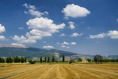Ландшафт в Умбрии между Spello и Перуджем Стоковые Фотографии RF
