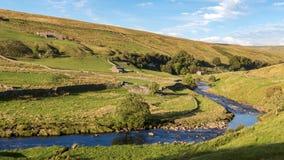 Ландшафт в участках земли Йоркшира, Великобритания Стоковое фото RF