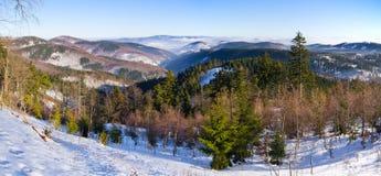 Ландшафт в холмах, Польша Стоковое фото RF