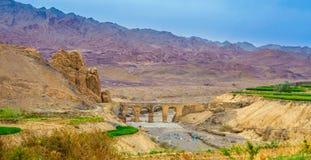 Ландшафт в центральной части Ирана стоковые изображения