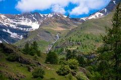 Ландшафт в Ecrins национальном Parc в Франции Стоковые Фото