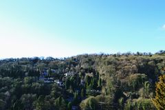 Ландшафт в Matlock. Стоковое Фото