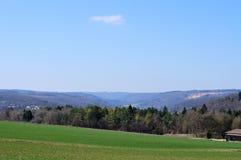 Ландшафт в swabian Стихарь с смешанным лесом стоковое изображение