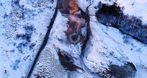 Ландшафт гейзера в виде с воздуха Стоковые Изображения