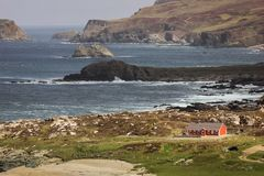 Ландшафт Головка Malin Inishowen Графство Donegal Ирландия стоковые фотографии rf