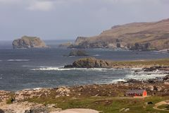Ландшафт Головка Malin Inishowen Графство Donegal Ирландия стоковые изображения