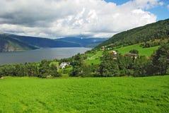 ландшафт гористая северная Норвегия Стоковое Изображение