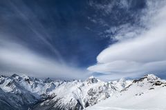 Ландшафт горного пика Стоковая Фотография RF
