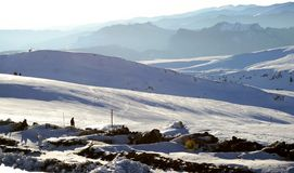 Ландшафт, горнолыжные склоны стоковое изображение rf