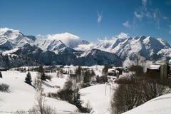 Ландшафт горных вершин гор Стоковое Изображение RF