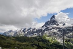 Ландшафт горных вершин гор Стоковые Фотографии RF