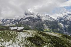 Ландшафт горных вершин гор Стоковые Фото