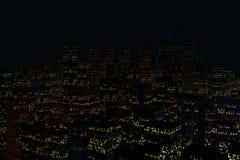 Ландшафт города ночи стоковое фото rf