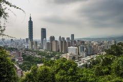 Ландшафт города Тайбэя Стоковая Фотография RF