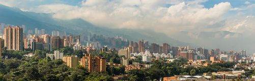 Ландшафт города Medellin Стоковые Фотографии RF