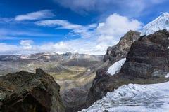 Ландшафт горы в Андах в Перу Стоковое Изображение RF