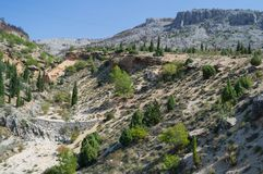 Ландшафт горы в Мостаре, Босния и Герцеговина стоковая фотография rf