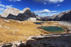 Ландшафт горы: итальянские горные вершины Стоковая Фотография